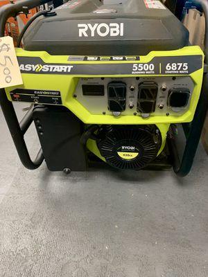RYOBI 6875 WATT GAS GENERATOR $500 for Sale in Corona, CA