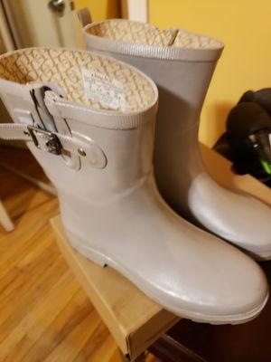 Chooka Silver/Pewter Rain Boots for Sale in Alexandria, VA