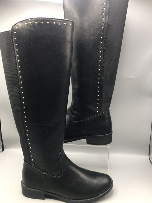 Lauren Conrad Women's Tall Black Riding Boots