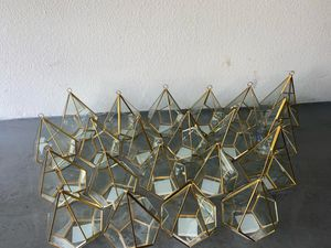 Gold Metal Geometric Tea Light Candle Holders - Flower Stand Centerpieces for Sale in Phoenix, AZ
