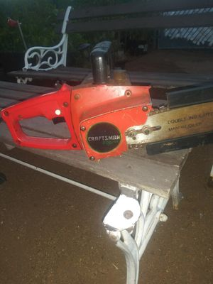 Electric craftman chainsaw works ok for Sale in Norco, CA