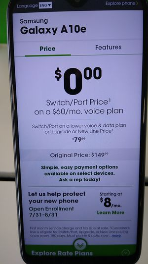 Galaxy A10e for Sale in Henderson, NV