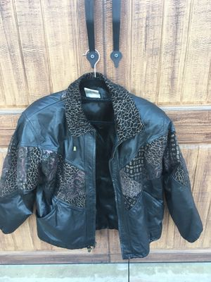 Genuine Leather Vintage Jacket with suede detail! for Sale in San Diego, CA