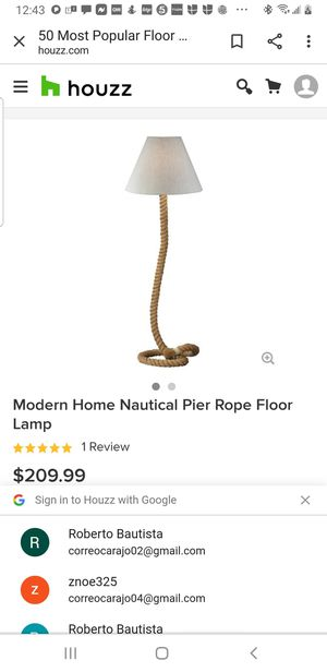 ROPE FLOOR LAMP for Sale in Inglewood, CA