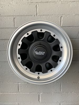 BLACK ROCK 15x8 SILVER RIMS FOR SALE for Sale in Chula Vista, CA