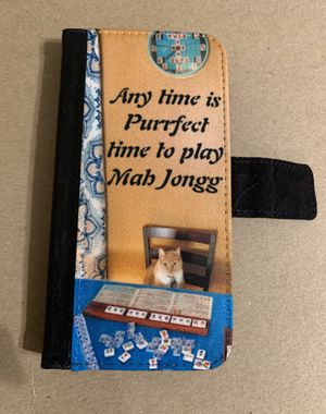 I phone X wallet phone case Mah Jongg Cat for Sale in Columbia, MO