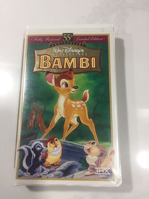 Bambi Disney VHS 55th anniversary for Sale in Oakland Park, FL