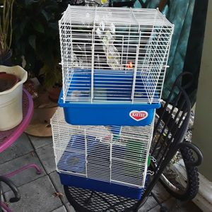 Hamsters Cages With Water Bottle $10 For Both for Sale in Sarasota, FL