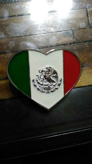 Belt buckle Mexico flag heart shaped for Sale in Chicago, IL