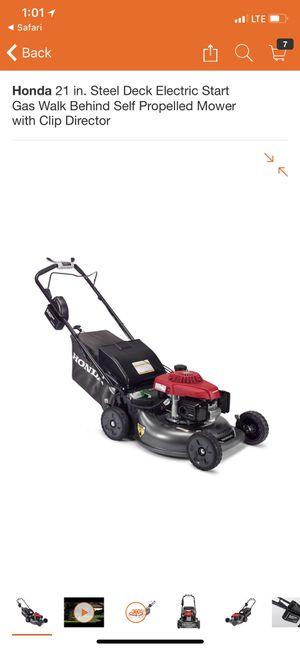 Honda lawn mower electric start for Sale in Houston, TX