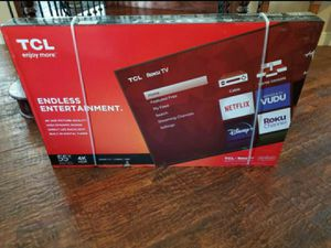 55 inch 4k ultra smart led hdtv built in Roku...... NEW IN BOX AND SEALED .....NO trades .....$269 cash firm for Sale in Plano, TX
