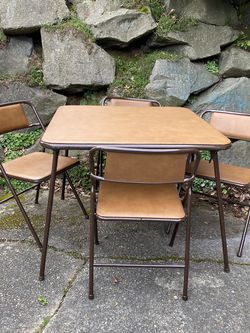 Retro Card Table And Chair Set for Sale in Seattle,  WA