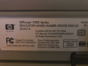H/p officer 7300 series model number sdgob-0305-02 q3461aMake me an offer for Sale in Diamond Bar, CA