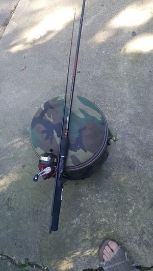 Fishing rod and reel and bucket for Sale in Westmont, IL