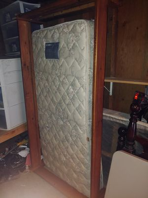 Twin bed with wood frame for sale make offer for Sale in Tualatin, OR