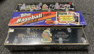 1993 TOPPS & UPPER DECK SEALED BASEBALL CARD SETS JETER ROOKIES for Sale in Brea, CA