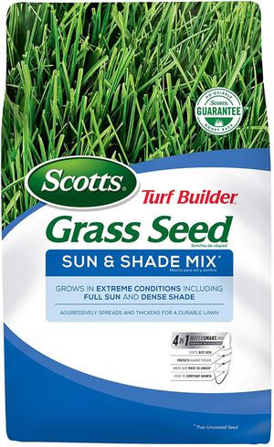 Scotts Turf Builder Grass Seed Sun & Shade Mix - Shade & Drought Resistant Grass Seed for Lawns 7lb for Sale in Brooklyn, NY