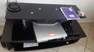 TV stand black glass for Sale in Pompano Beach, FL