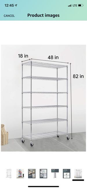 Heavy Duty Metal Wire Shelving Unit for Sale in Los Angeles, CA