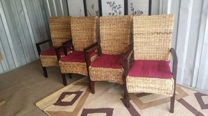 Upright Wicker dining chairs for Sale in Silver Spring, MD