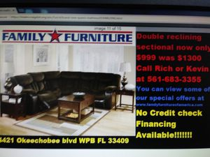 Brand new with warranty reclining sectional for Sale in West Palm Beach, FL