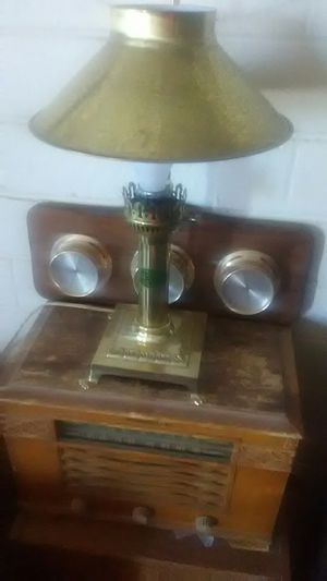 VINTAGE PARIS ORIENTAL EXPRESS ISTANBUL LAMP. AND SPRINGFIELD 3 GAUGE WEATER STATION for Sale in Tucson, AZ