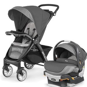 Chicco Bravo LE Trio Travel System, Silhouette (expiration date is 08/2026) for Sale in Las Vegas, NV
