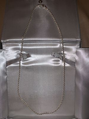 26 INCH 3MM ROPE CHAIN 925 ITALY SILVER for Sale in Dallas, TX