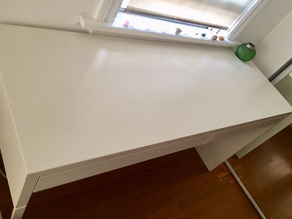 IKEA desk and office chair white color. $100 for both.