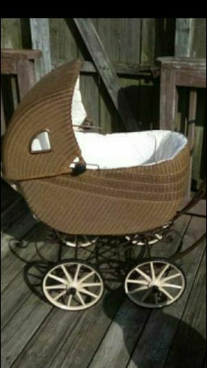 VICTORIAN, Wicker baby Buggy...It is a full size child Buggy..amazing shape for Sale in Chesapeake, VA