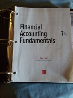 Financial Accounting Fundamentals 7th Edition With Connect Code for Sale in National City,  CA
