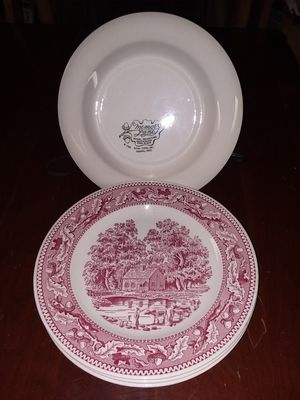 4 pics. Antique vintage Royal China plates Memory Lane 1965. for Sale in Inkster, MI