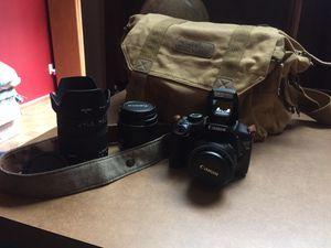 Canon rebel t2i w/ 3 lenses for Sale in Jacksonville, FL