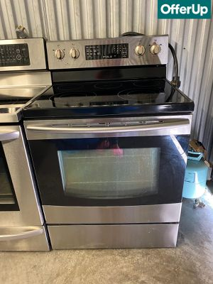 Stainless Steel Samsung Electric Stove Oven Glass Top #1281 for Sale in Melbourne, FL