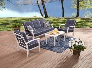 Modern 4-Piece Patio Furniture Conversation Set, Blue (Purchase via PayPal Invoice Only with Free Shipping) for Sale in Philadelphia, PA
