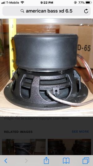 6.5 American Bass subwoofer for Sale in Cleveland, OH