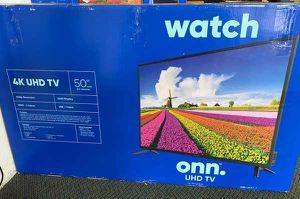 """Brand New 4K ONN UHDTV 50"""" Open box w/ warranty BBXIF for Sale in Haltom City, TX"""