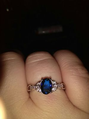 Blue sapphire ring sterling silver stamped as well for Sale in Knoxville, TN