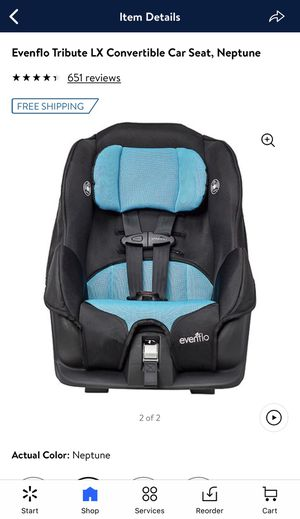Evenflo LX Convertible Car Seat in Neptune💙🖤 for Sale in Phoenix, AZ