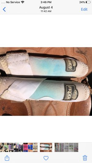 Horse splint boots white with turquoise for Sale in Salinas, CA