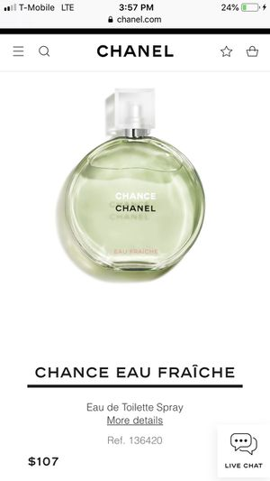 Chanel Chance eua fraîche perfume for Sale in Boring, OR