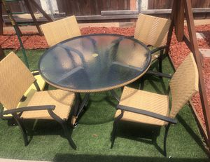 Patio furniture Ebel wicker patio table set for Sale in San Diego, CA