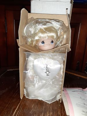 Precious moments angel wedding doll- april for Sale in Merrillville, IN