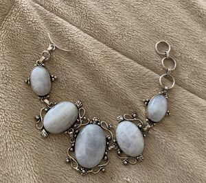 New moonstone sterling silver 925 bracelet for Sale in Palatine, IL