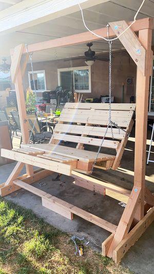 Custom Rustic wooden swing for Sale in La Puente, CA