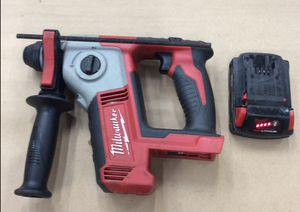 "Milwaukee 2612-20 Cordless 5/8"" Rotary Hammer Drill w/ 1 1.5A Battery **NO CHARGER** (19-2366) for Sale in Laurel, MD"