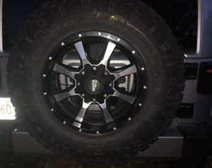 Jeep Wrangler wheels and tires: 5 Nitto Ridge Grappler 295/70R18E for Sale in Sharon, MA