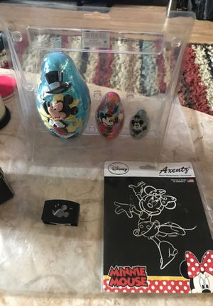 Mickey Mouse Disney nesting dolls, napkin rings, decal for Sale in Tacoma, WA