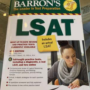 Barron's LSAT Test Prep Book for Sale in Pompano Beach, FL