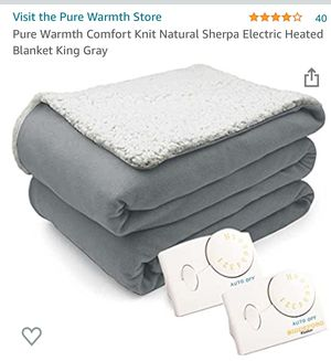 King size electric blanket for Sale in Black Diamond, WA